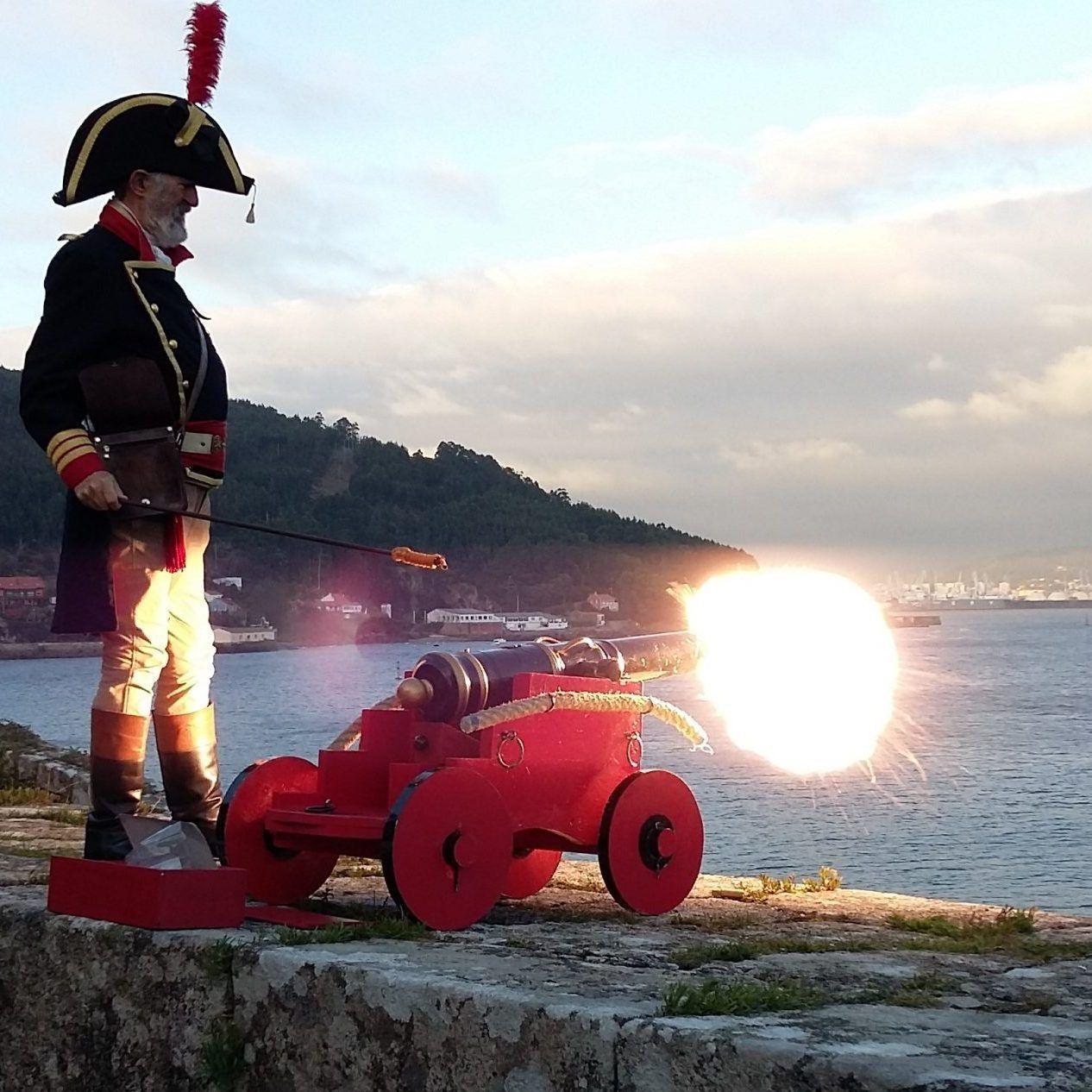 castillo de San Felipe Ferrol, visitas teatralizadas, cañon